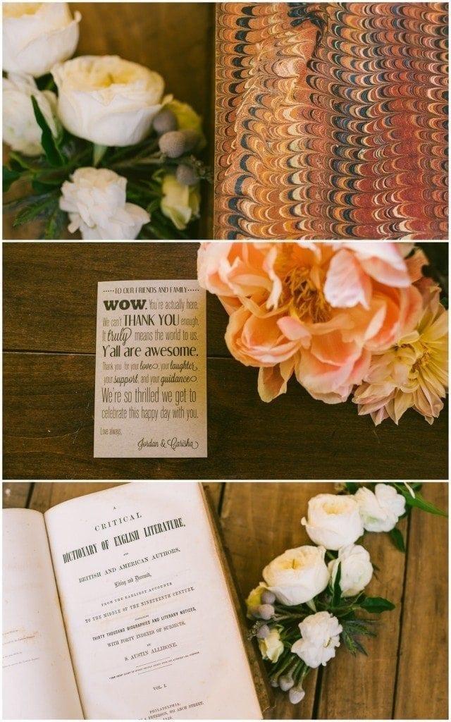 Beautiful details at a winfield inn wedding in Austin, Tx.