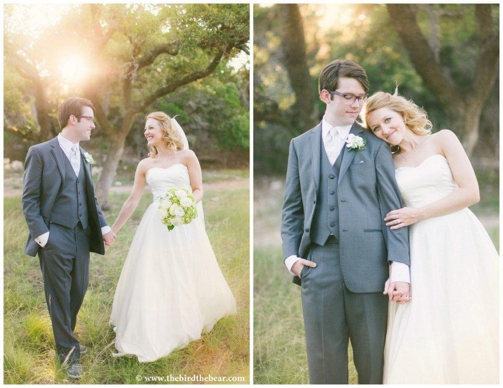 Bride and groom walk together after their Kendall Plantation wedding.
