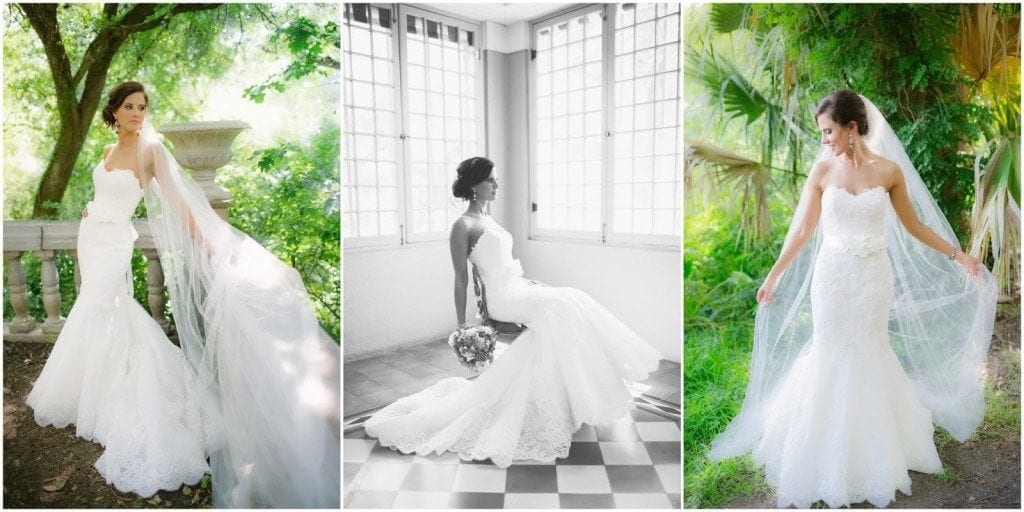 Bride sits in the solarium during her Laguna Gloria bridal portrait photo session.