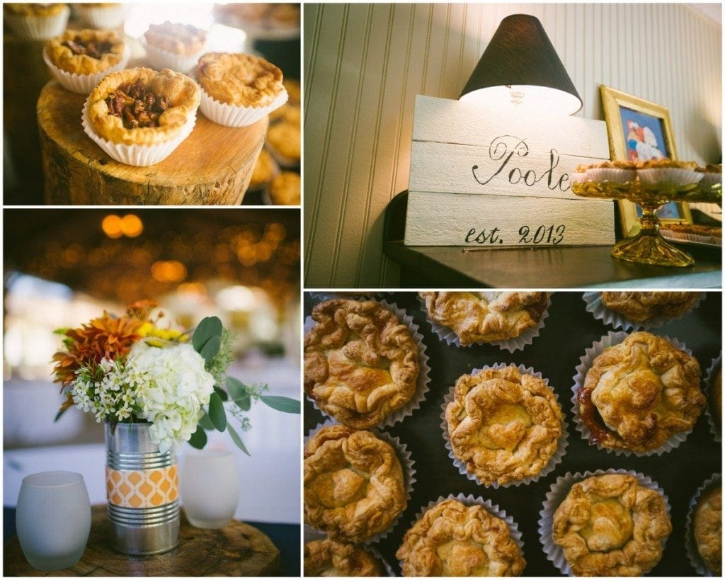 Tiny pies in the house at the Inn At Wild Rose Hall.
