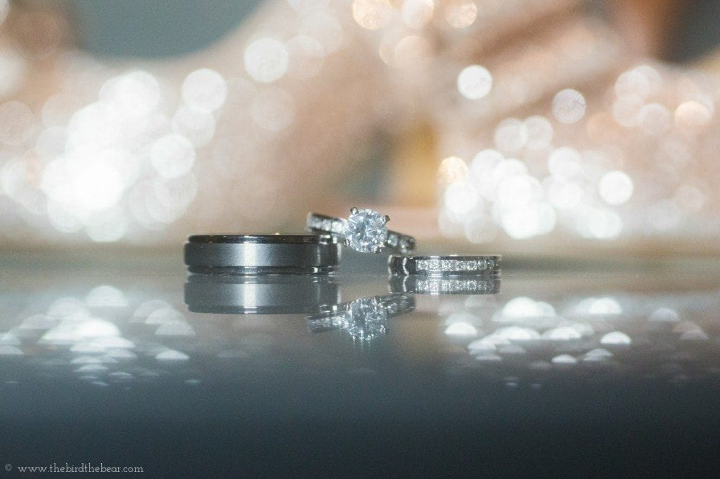 sparkley wedding rings