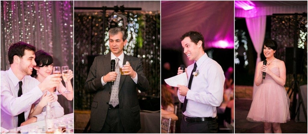 wedding toasts during reception
