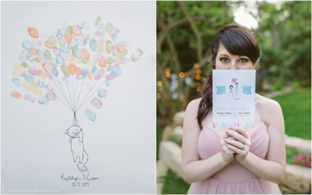 Custom canvas thumb print guestbook at wedding.