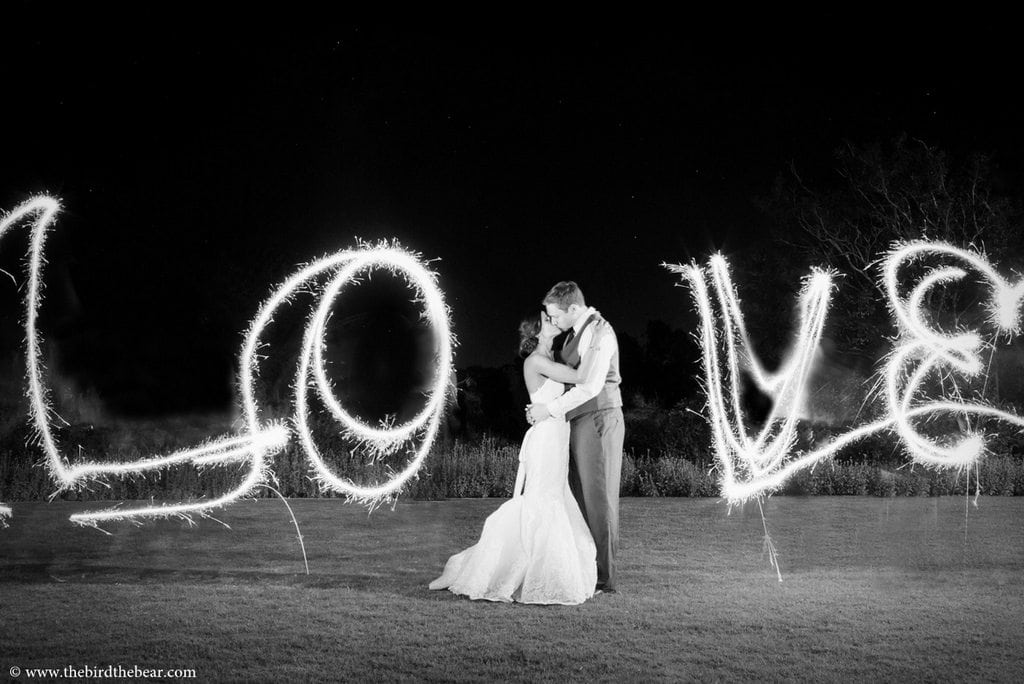 Sparkler Drawing at Wedding
