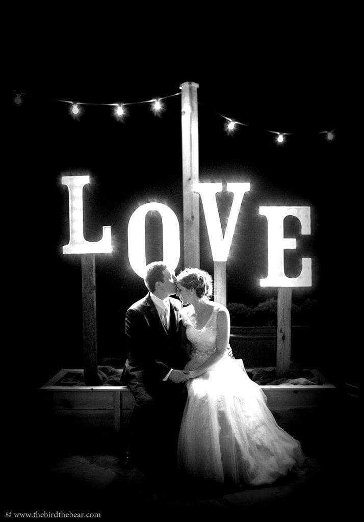 Love Marquee Sign for Wedding