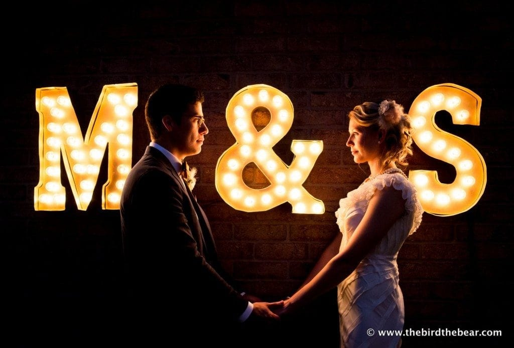 awesome wedding marquee initials