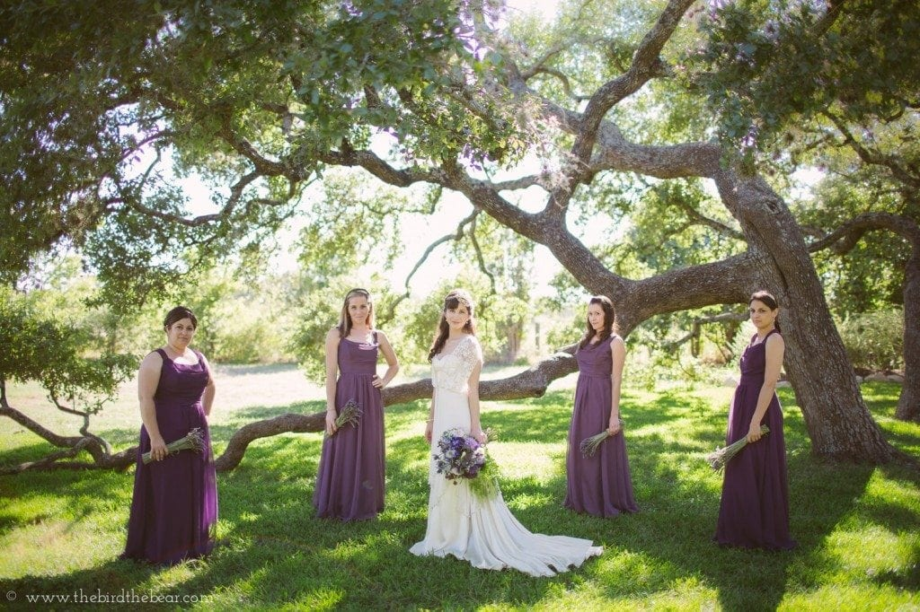 plum purple long bridesmaid dresses