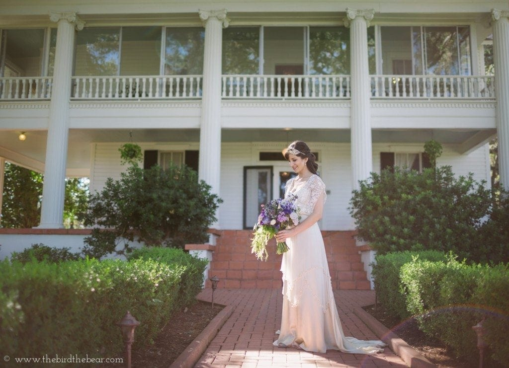 winfield inn bridal portrait
