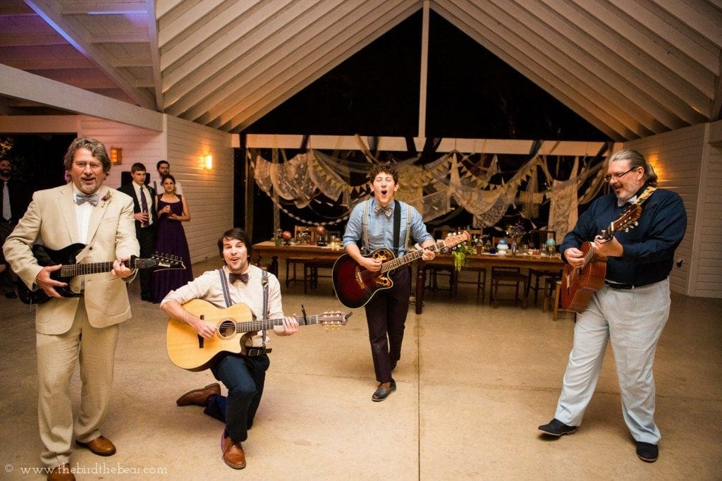 groom plays an irish song to the bride