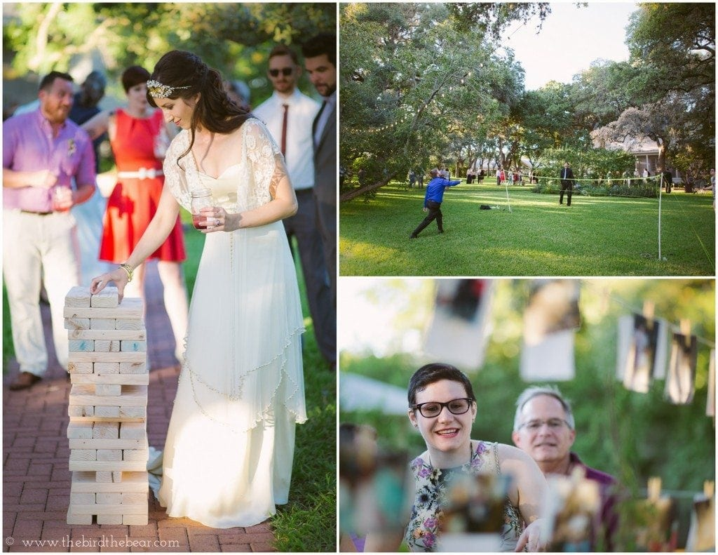 giant jenga at wedding