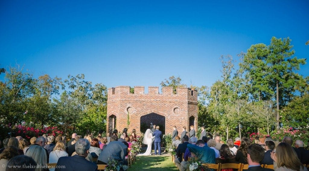 Wedding ceremony at Moss Mountain Farm in Arkansas