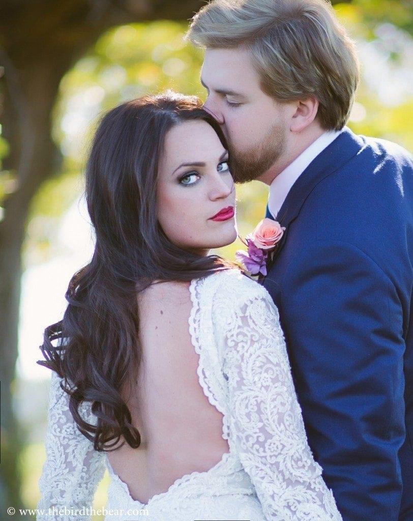 Beautiful Bride in berta bridal gown