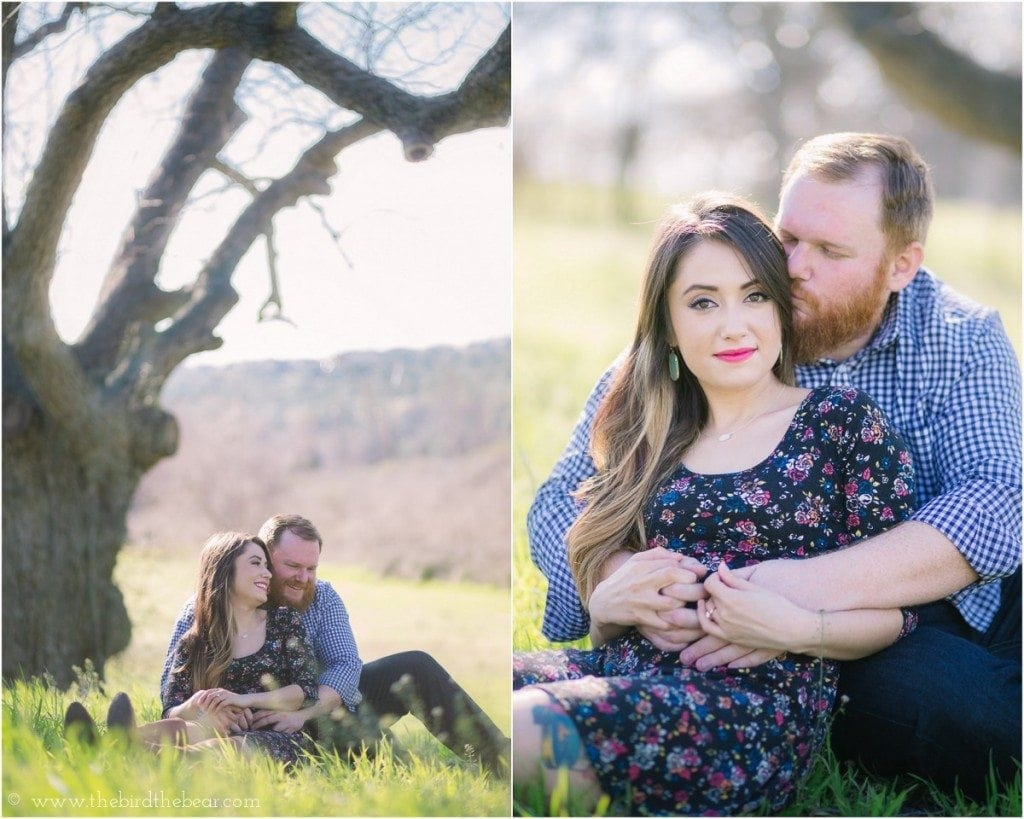 Engagement photos taken in the hillcountry around Austin, TX