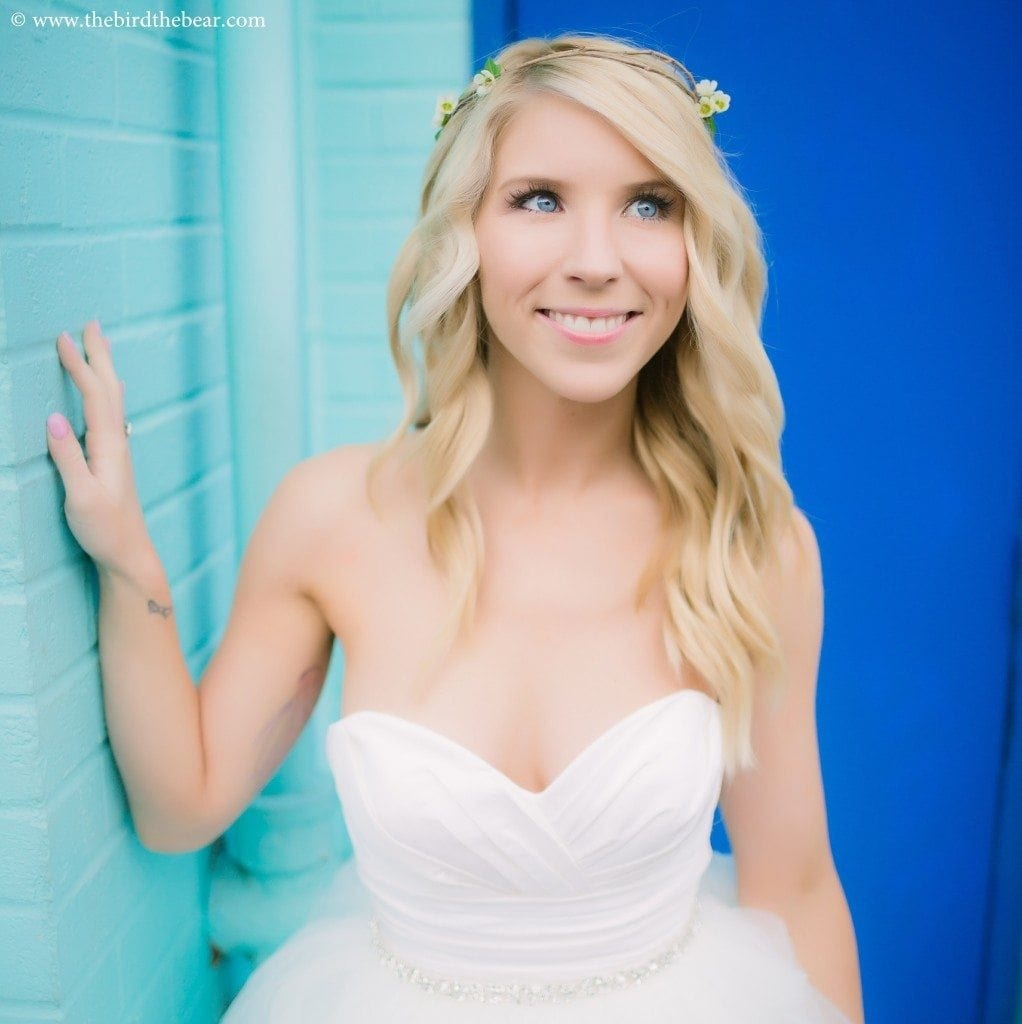Quirky Austin bridal portraits