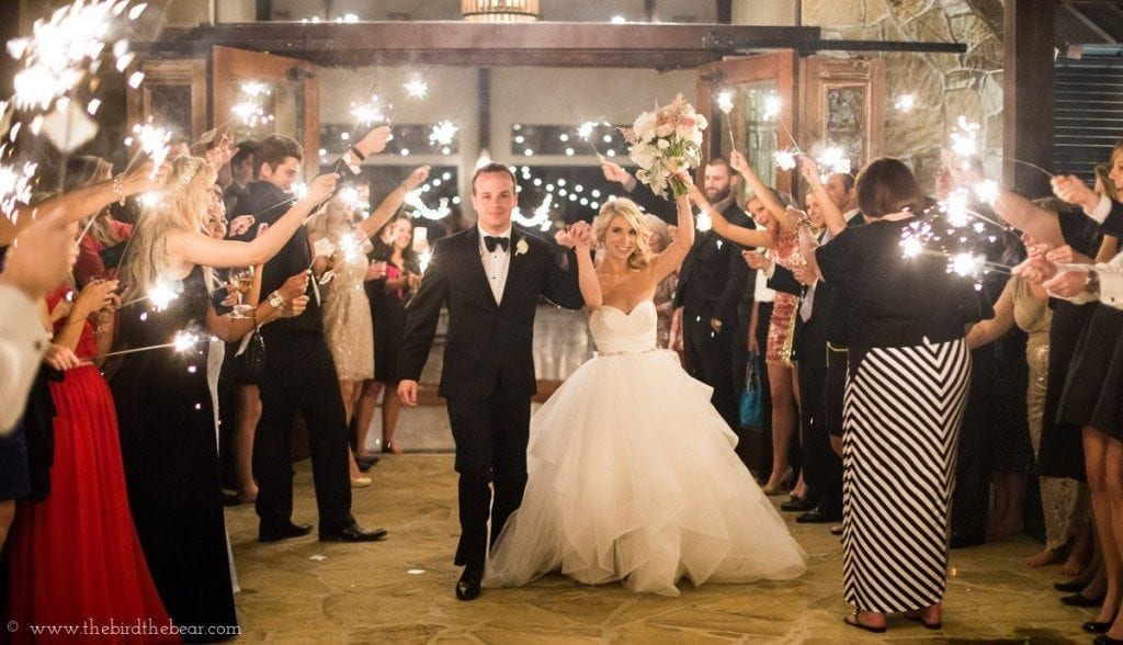 wedding sparkler exit in austin, tx.