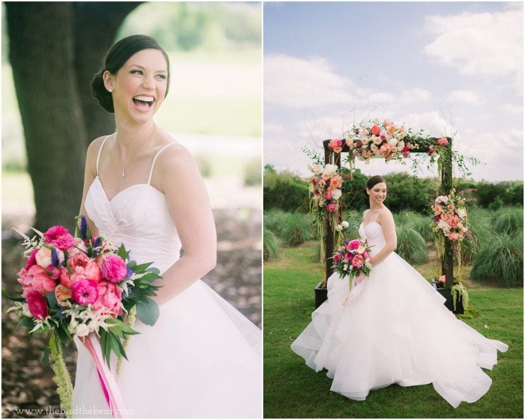Beautiful bride before her wedding ceremony at the UT Golf Club in Austin, TX.