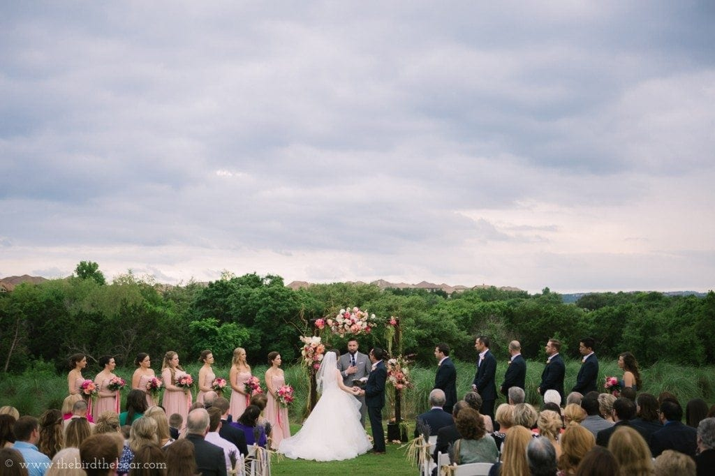 Wedding ceremony at the UT Golf Club in Austin, TX.