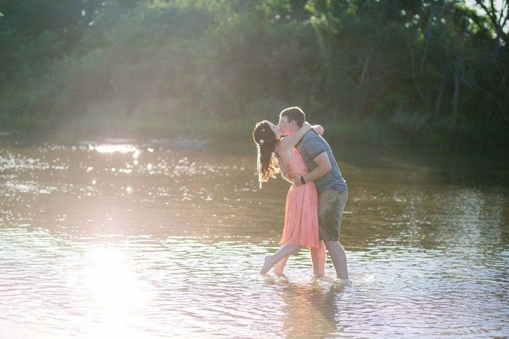 River Engagement Photos in Austin