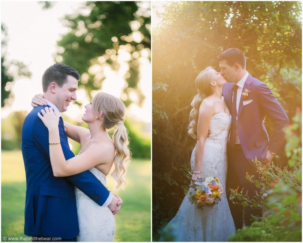 Bride and Groom portraits in gorgeous light